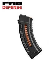 Магазин 7.62х39 на 30 патронов пластиковый с окном Fab Defense (Израиль) для АК, фото 1