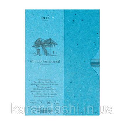 Склейка SMILTAINIS AUTHENTIC для акварели A4 280/м2 35 листов целлюлоза  в ПАПКЕ AA-35, фото 2