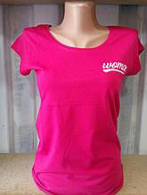 Женская футболка, коттон, р-р универсальный 42-46 (малиновый)