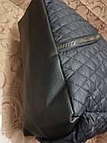 (Бегунок золото популярный)Женские сумка стеганная с кожаным качество только оптом, фото 7