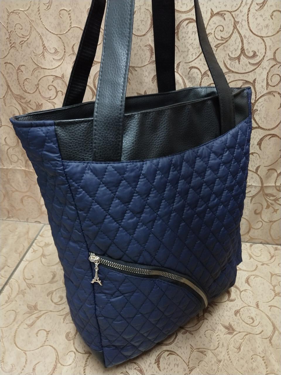 (Бегунок золото популярный)Женские сумка стеганная с кожаным качество только оптом