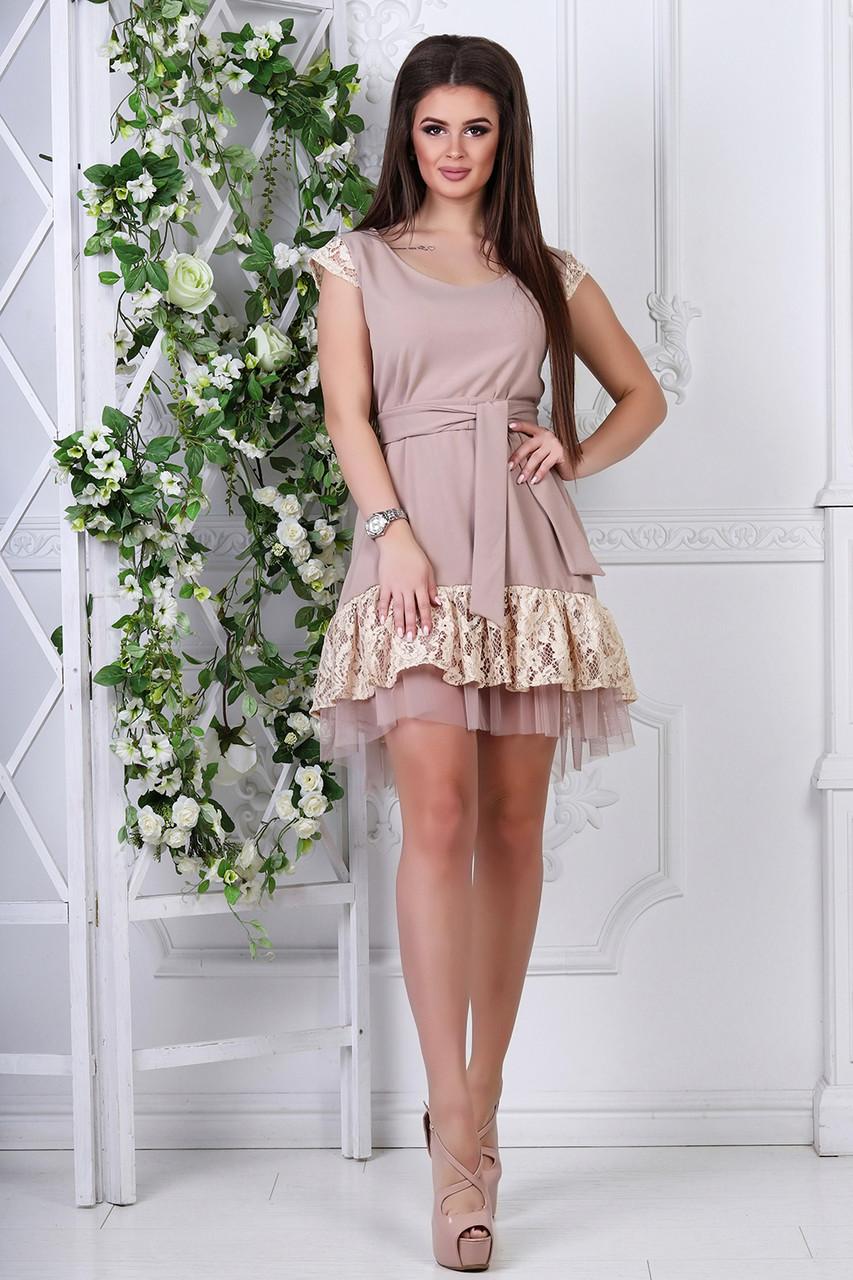 Платье летнее бежевое Каторина