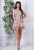Платье летнее бежевое Каторина, фото 1