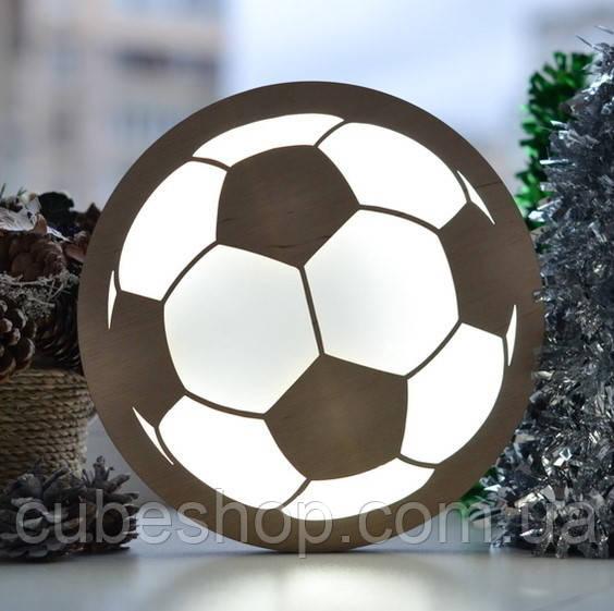 """Деревянный светильник """"Футбольный мяч"""""""