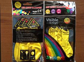 Светящиеся воздушные шарики желтые