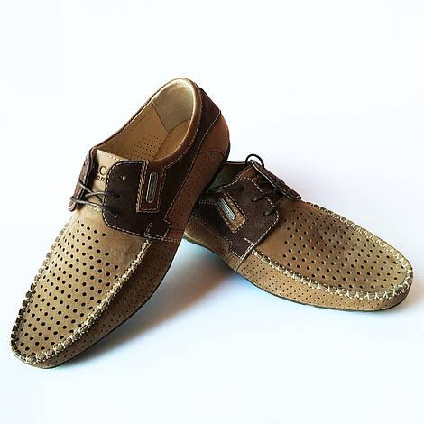 Харьковская кожаная обувь от производителя Falcon : летние, мужские, замшевые мокасины, светло-коричневые