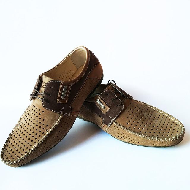 Летняя харьковская кожаная обувь от производителя Falcon : модные, мужские, замшевые мокасины,  светло-коричневые