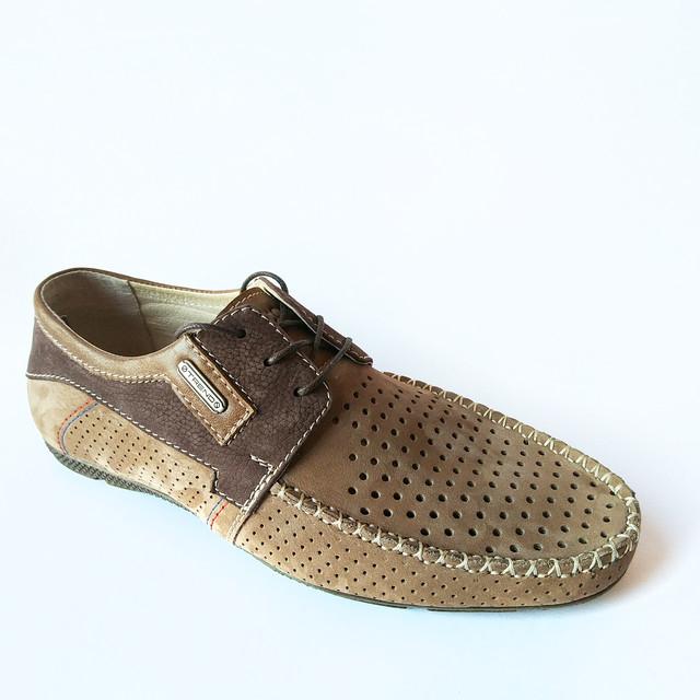 Летняя, коричневая, харьковская кожаная обувь от производителя Falcon : модные, мужские, замшевые мокасины, хит 2018 года