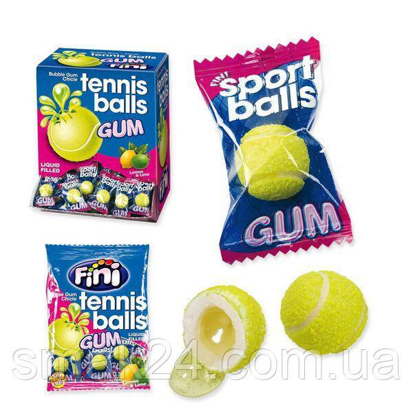 Жевательные конфеты (жвачки) без глютена Fini Tennis balls теннисные мячики Испания 200штх5г