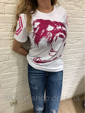 Футболка женская Philipp Plein белая, фото 2