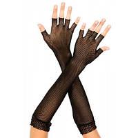 Ажурные черные перчатки