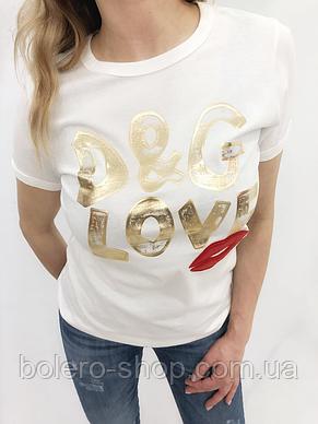 Футболка женская Dolce Gabbana белая, фото 2