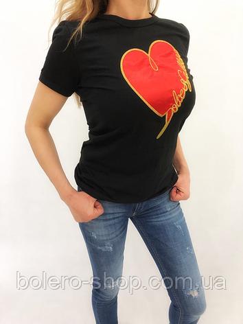 Футболка женская Dolce Gabbana черная, фото 2