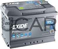 Exide Premium 77 Ah 760 A аккумулятор (-+, R), 2020 год (EA770)