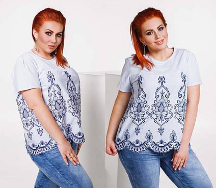 c7b58c25cf1 Летняя стильная женская блузка в больших размерах 1568