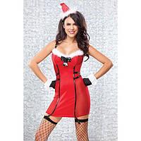 Красное Новогоднее платье