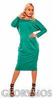 Платье миди с рукавом летучая мышь (в расцветках) 070