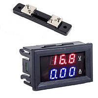 Цифровой амперметр-вольтметр 100В 50А