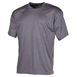 Футболка (M) армейская тактическая потоотводящая MFH серого цвета