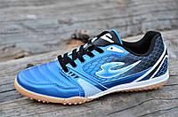 Сороконожки, бампы, кроссовки для футбола синие прошитый носок сетка износостойкие легкие (Код: Б1132)