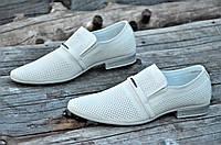 Мужские летние туфли модельные классические натуральная кожа бежевые удобные (Код: М1129а), фото 1