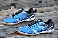 Сороконожки, бампы, кроссовки для футбола синие прошитый носок сетка износостойкие легкие (Код: Т1132а)