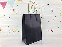 Темно-синий крафт пакет L (упаковка 12 шт)