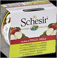 613721 Schesir Курица с яблоком для собак, банка, 150 гр