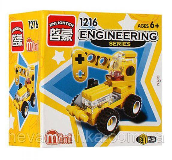 Конструктор BRICK Mini Стройтехника Кран, 31 дет., 1216, 007668