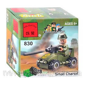 Конструктор Brick Enlighten Военная техника Автомобиль, 28 дет., 830, 000015