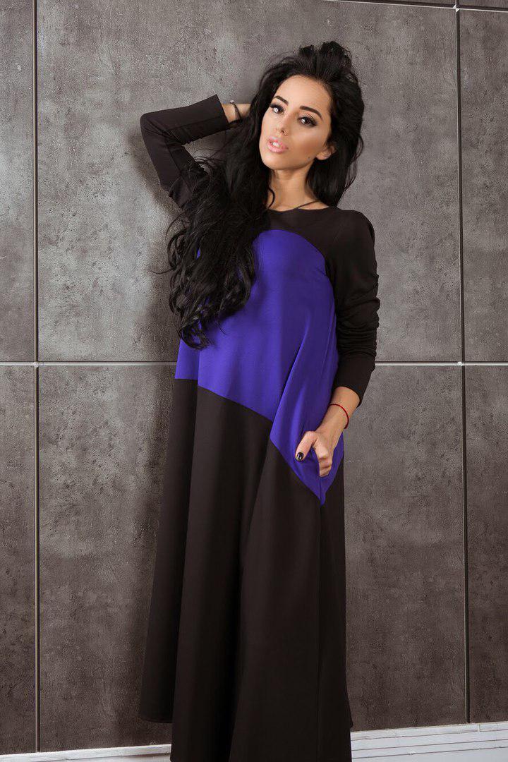 Платье  свободного кроя с карманами арт 4744-17