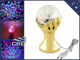 Цветная диско LED Вращающаяся лампа светильник