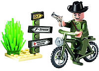 Конструктор Brick Enlighten Военная техника Секретный агент на мотоцикле, 20 дет., 827, 000016