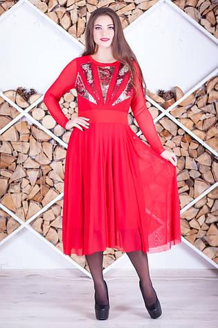 Червоне нарядна сукня з паєтками, фото 2