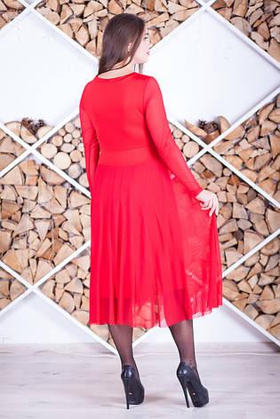 Красное нарядное платье с пайетками, фото 2