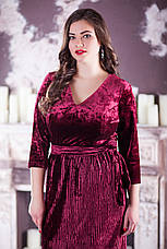 Бархатное платье больших размеров 221, фото 3