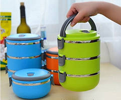 Набор ёмкостей для хранения пищи 3 шт ланч бокс сохраняет тепло