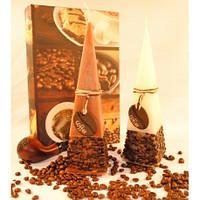Свеча Кофе пирамида