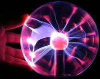 Плазменный шар светильник молния Plasma ball 12 см