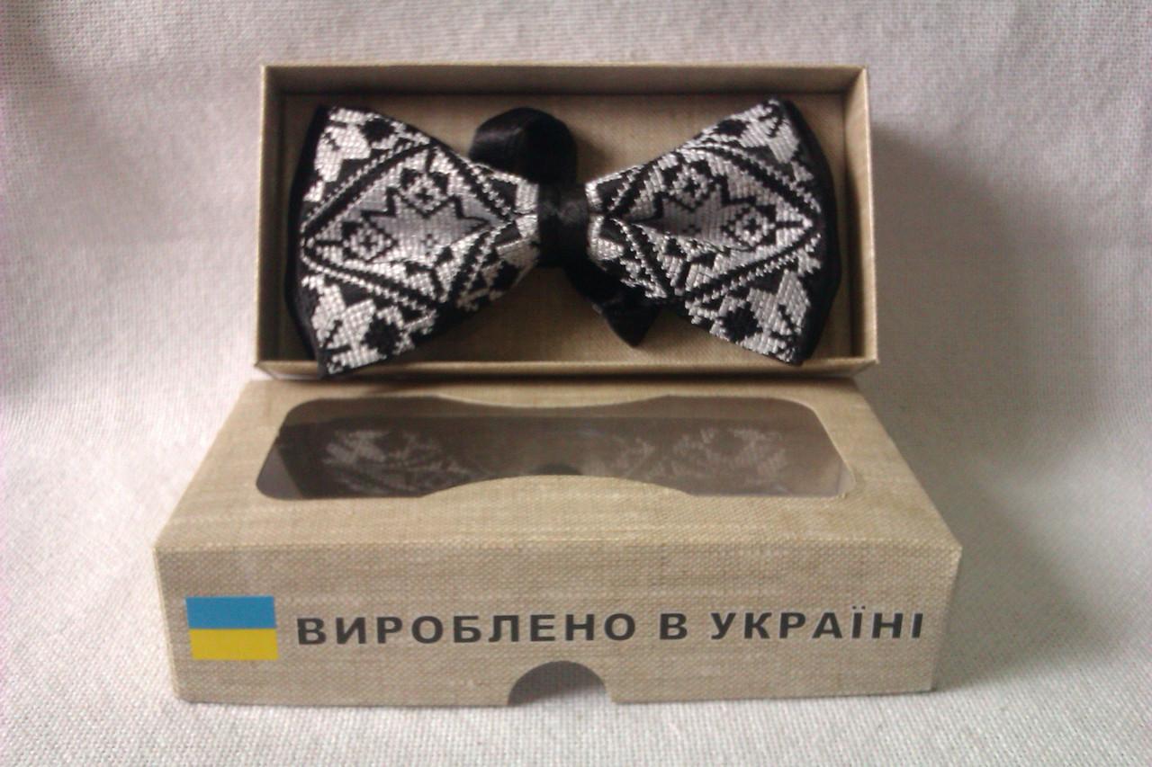 Вишитий галстук-метелик