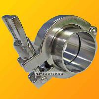 Кламп нержавеющий DIN Dn 50 AISI 304 (штуцер 2 шт, хомут, силикон или EPDM)