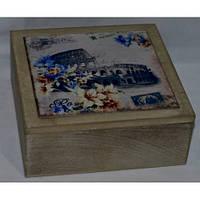Коробка деревянная шкатулка для чая