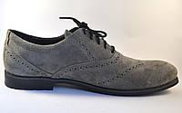 Туфли броги оксфорды мужские замшевые Rosso Avangard Felicete Persona Grey Vel серые, фото 1