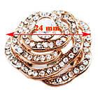 Кольцо Женское Цветок под Розовое Золото 14К с Белыми Фианитами, Позолоченные Кольца, Бижутерия 17, фото 2