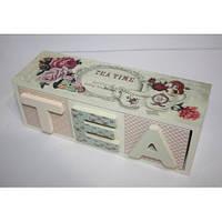 Коробка для чая деревянная