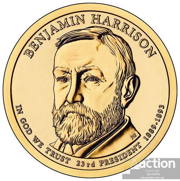 США 1 доллар 2012, 23 президент Бенджамин Гаррисон  (1889-1893)