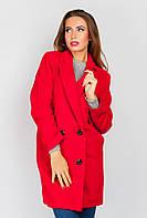 Пальто однотонное 662K002 (Красный)