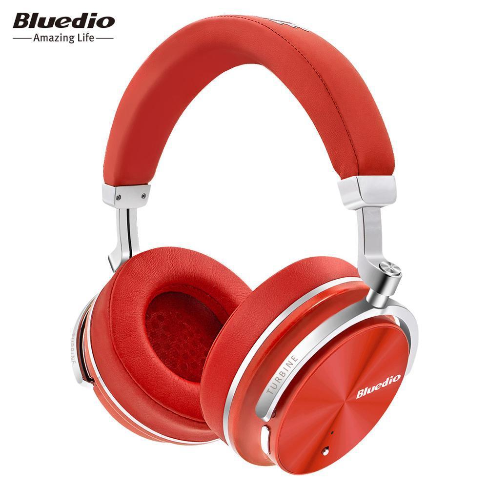 Беспроводные Bluetooth наушники гарнитура Bluedio T4S Turbine Active с активным шумоподавлением. Красные.