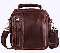 Кожаные мужские сумки через плечо, на пояс