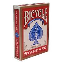 Карты для покера и фокусов Bicycle Standard (standart, Rider back) Красные Синий